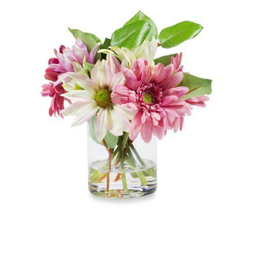 Peony Composizione floreale con gerbere e margherite in vaso - QVC Italia