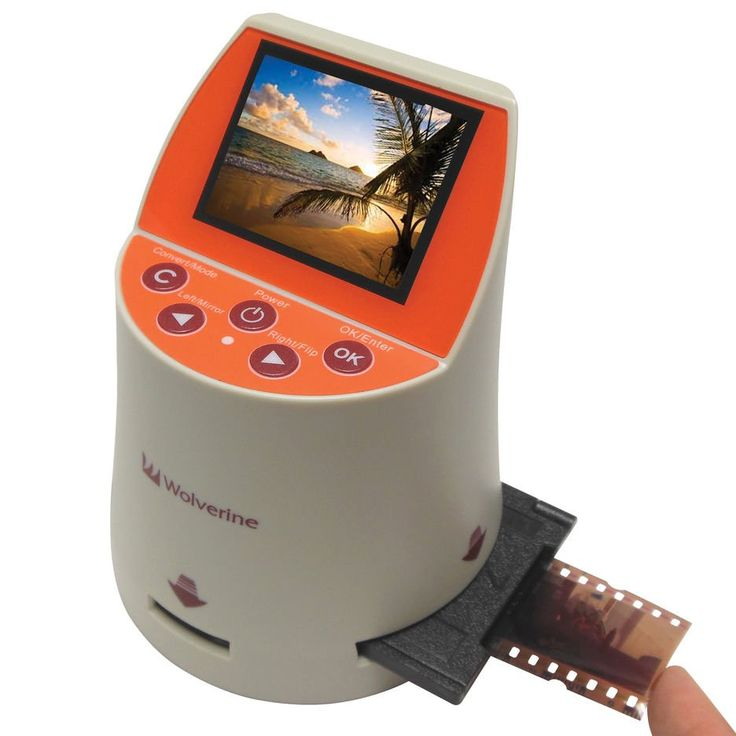 Wolverine 20 Megapixels Seven Film to Digital Converter Convert 7 type of Film into Digital in seconds. Converter of Slides & Negatives into digital JPEG's for 35mm, 127, 126KPK, 110 and 35mm library Archives. Take JPEG snapshots from your 8mm and Super 8 Reels and recompile into a video. Unique Speed-Load adapters for fast loading of slides & negatives.