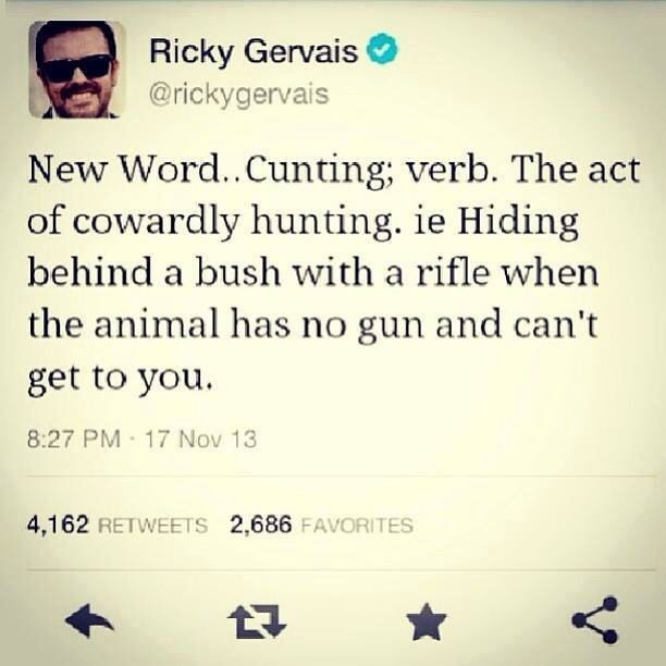Ricky Gervais twitter