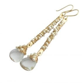 Hammered Twig Earrings from Sarah Hickey Jewellery