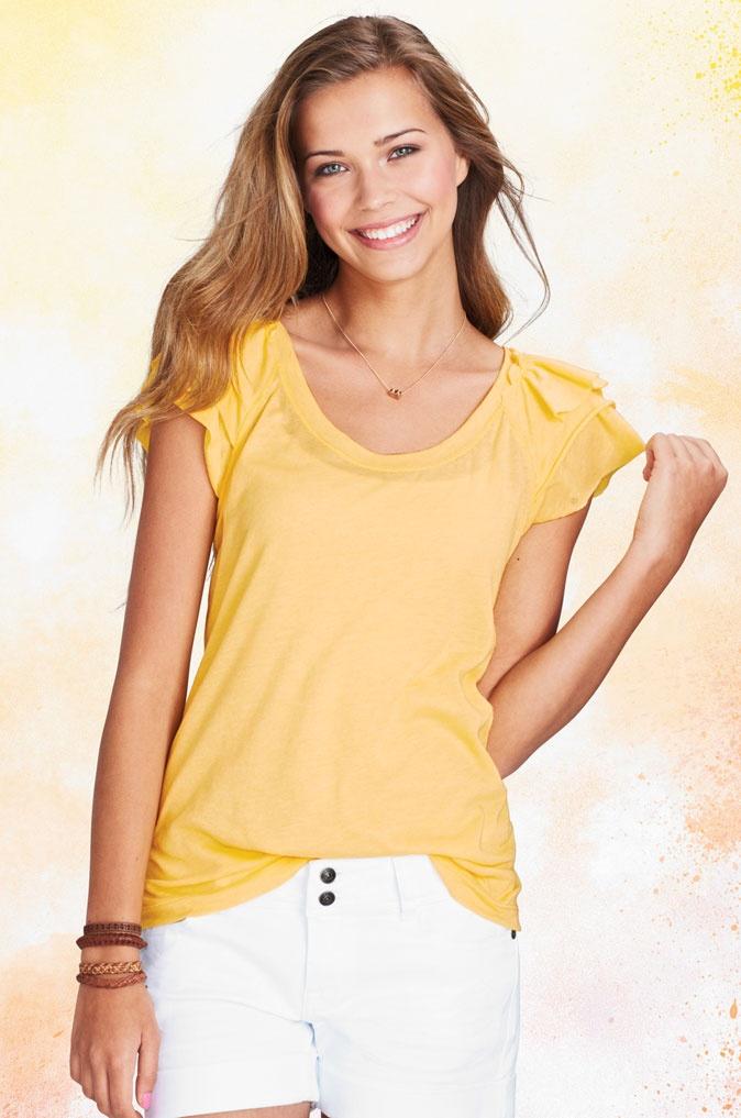 Ruffle Sleeve Short SleeveSleeve Tissue, Ruffles Sleeve, Tissue Shorts Sleeve, Summer, Sleeve Shorts, Products, Tissue Shortsleeve