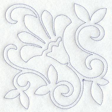 Tambour embroidery pattern. Bordado con ganchillo. Patrón. Línea continua. One continuos line.