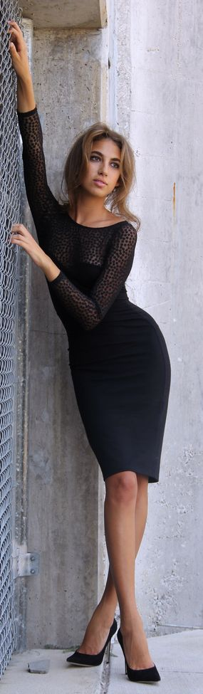 Lace Detail Bodycon Lbd