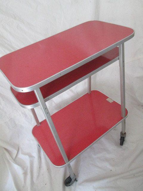 1950's retro bar cart industrial utility cart by artifactMODERN