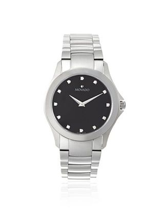 -69,400% OFF Movado Men's 606185 Classic Silver/Black Stainless Steel Watch