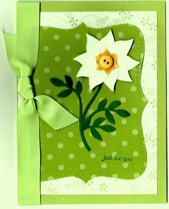 Stampin' Up!  Bird Punch  Diane Kanode  White Flower