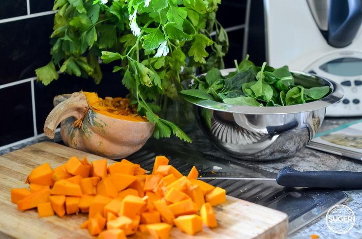 Thermomix Pumpkin and Spinach Risotto. Be still my carb loving heart. Pumpkin and spinach are my favourite combination of all time, and together in this Thermomix recipe for risotto, it's a no-brainer. Cheesy and delicious, this is a must have family meal this winter.