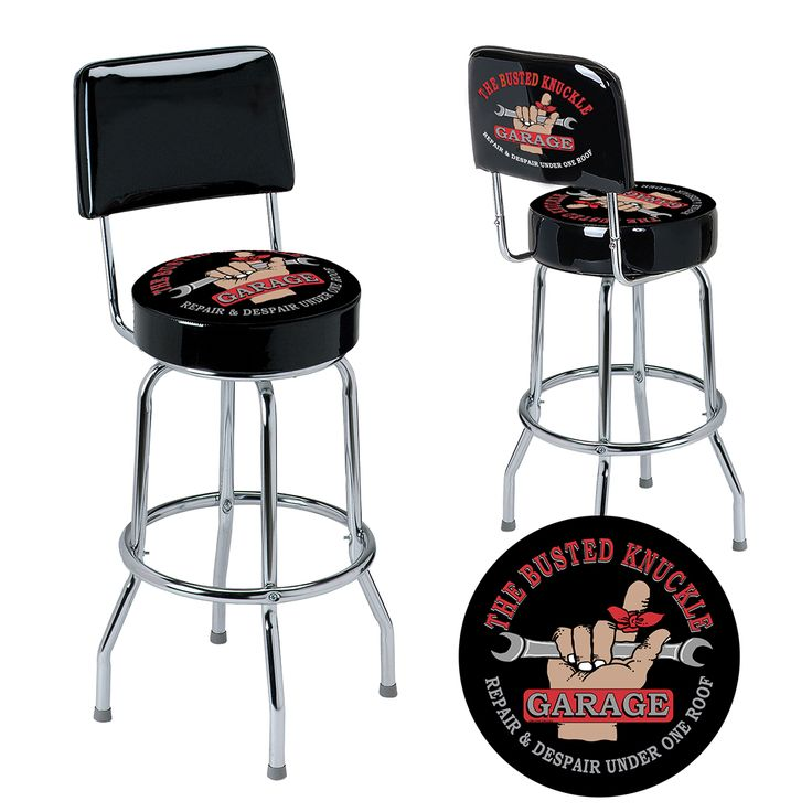 Busted Knuckle Garage Car Guy Backrest Stool with Full Swivel. Consider this a car guy  sc 1 st  Pinterest & 17 best Car Guy Bar Stools u0026 Pub Tables images on Pinterest | Pub ... islam-shia.org