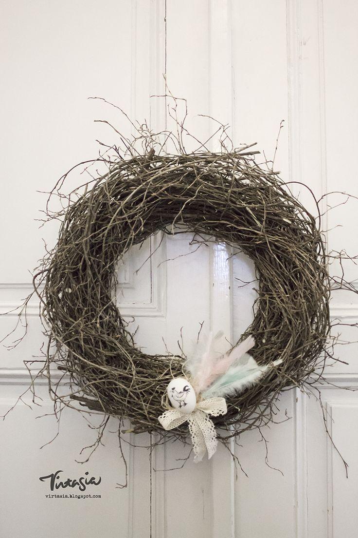 Risukranssi. Virtasia-blogissa ohjeet tekemiseen. #virtasia #kranssi #wreath