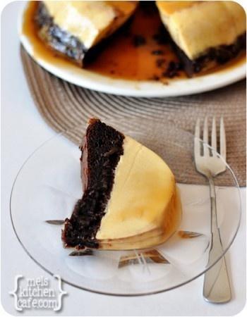 Magic Chocolate Flan Cake  melskitchencafe.com