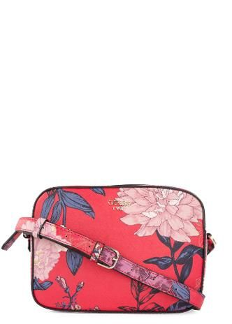 5f43b92bda Guess Kamryn Red Floral Crossbody