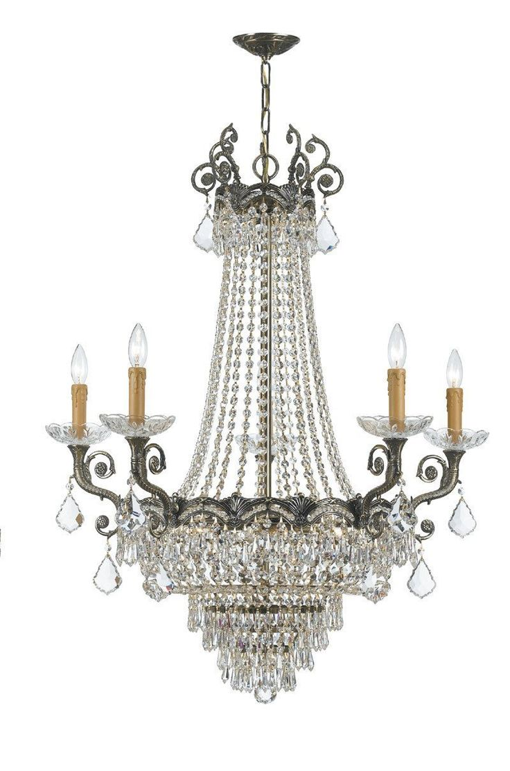 11 best ship chandeliers images on pinterest chandeliers crystorama sold cast brass ornate crystal chandelier 5 lights historic brass 1486 hb arubaitofo Choice Image