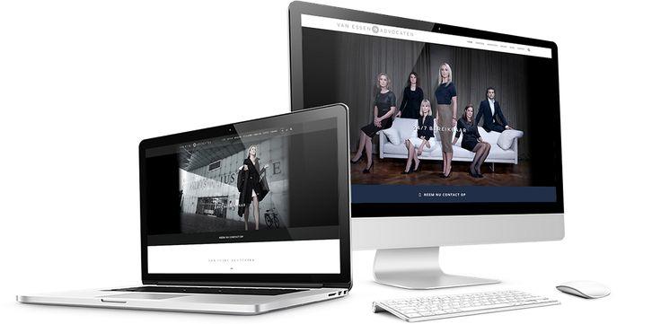 Website design, webshop design, e-commerce design, Van Essen Advocaten.