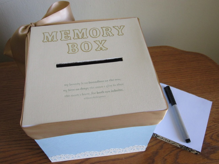 For mine and my boyfriends 6th year anniversary I made us a memory box. Throughout the year we will write down notes of our most cherished moments and put them in the box. And on our 7th anniversary we will open it and read them together.