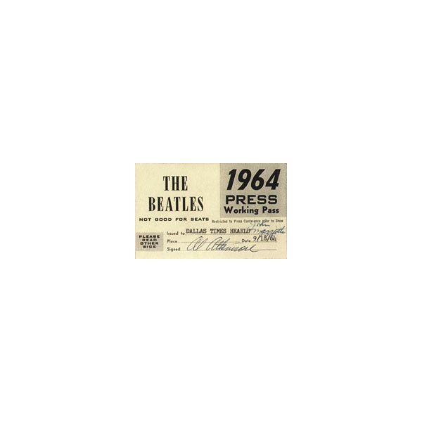 Beatles Concert Tickets - Dallas 9/18/64 ❤ liked on Polyvore