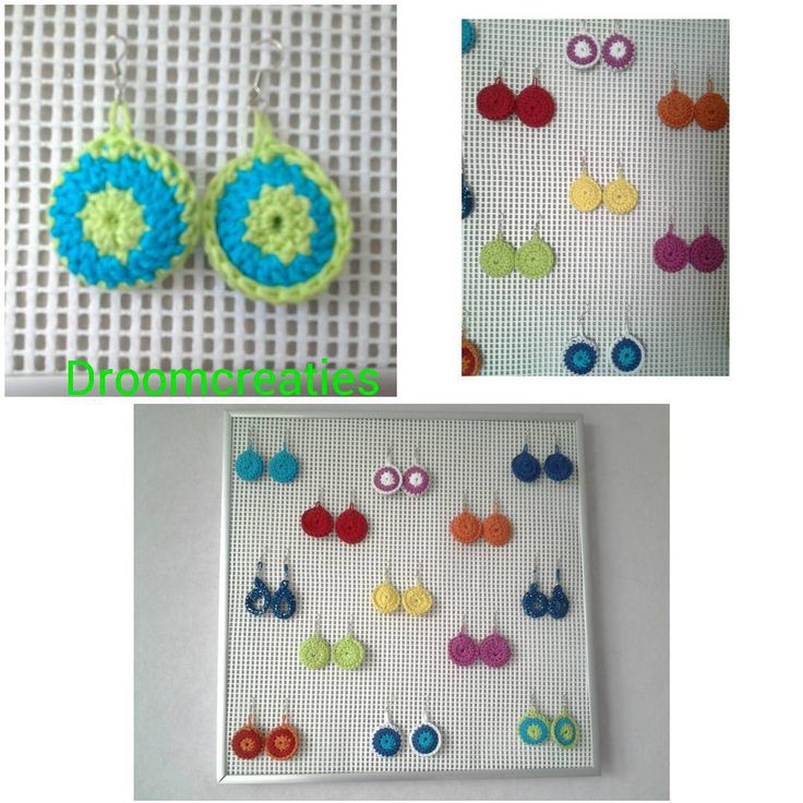 Made a creative wall board to show these handmade crochet earrings!  #creative #crea #handmade #crochet #earrings  #earringsoftheday #wallboard #droomcreaties #instagram #instalike #instadaily