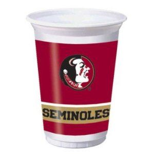 Florida State Seminoles 20oz Plastic Cups by Creative Converting. $4.59. Manufactured to the Highest Quality.. Design is stylish and innovative. Satisfaction Ensured.. Elegant party supplies for any holiday or occasion.