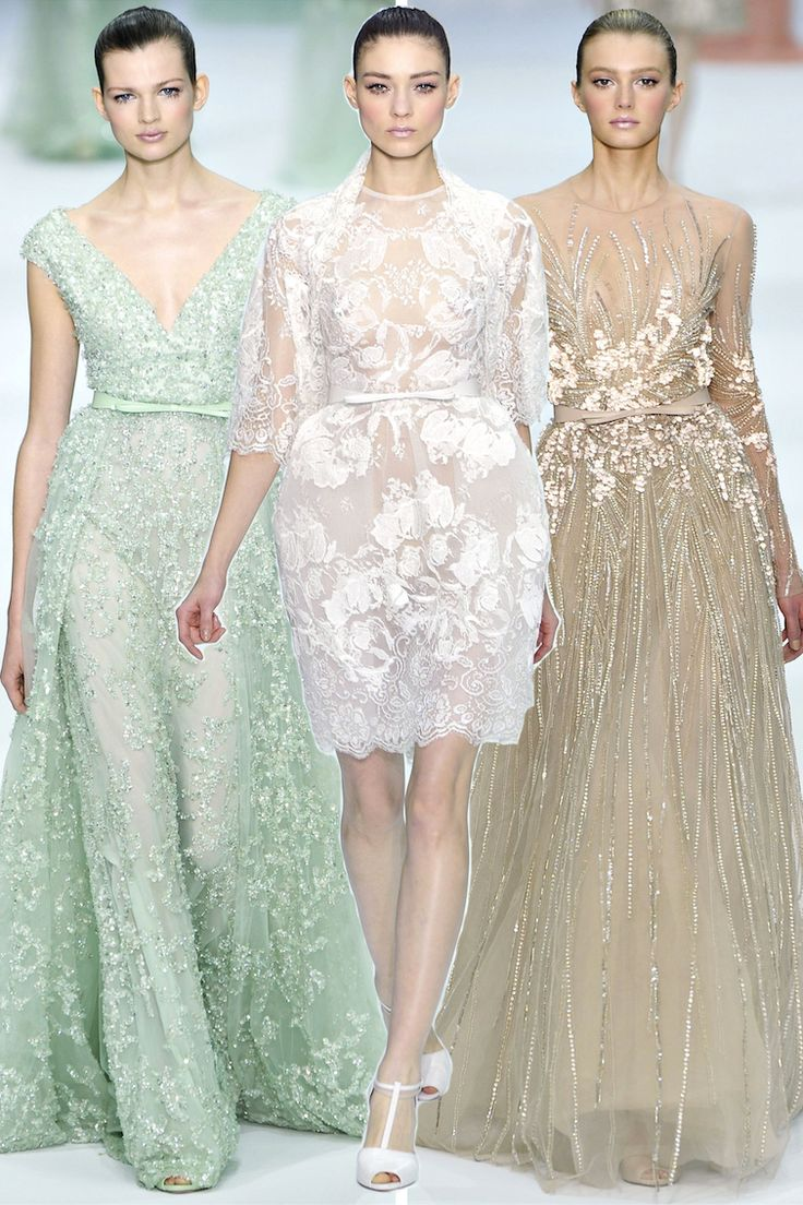 You Can Haute, Eliesaab, Fashion Style, Couture Spring, Pastel Fashion, Elie Saab Couture, Couture Dresses, Green Dresses, Haute Couture