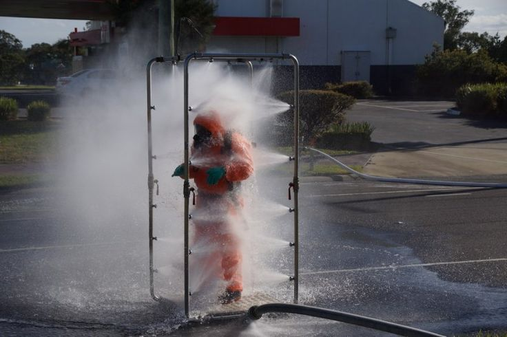 Hazmat Shower Police Truck Law Enforcement Firefighter