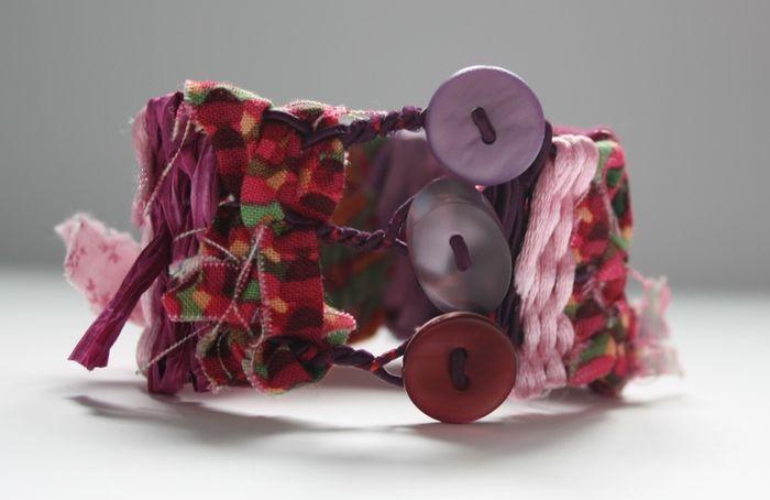 bracciali tessuti su wire