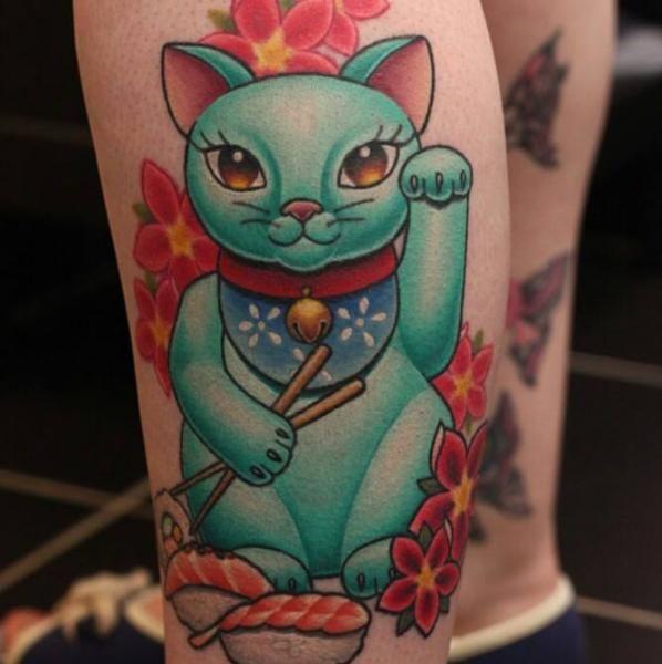Maneki Neko Tattoo by Nemesis Tattoo