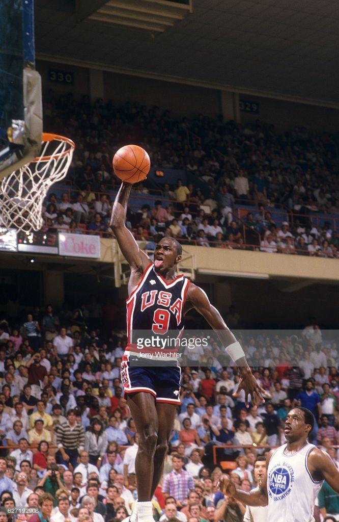595a9c3aa6e3 Fotografia de notícias   Team USA Michael Jordan in action