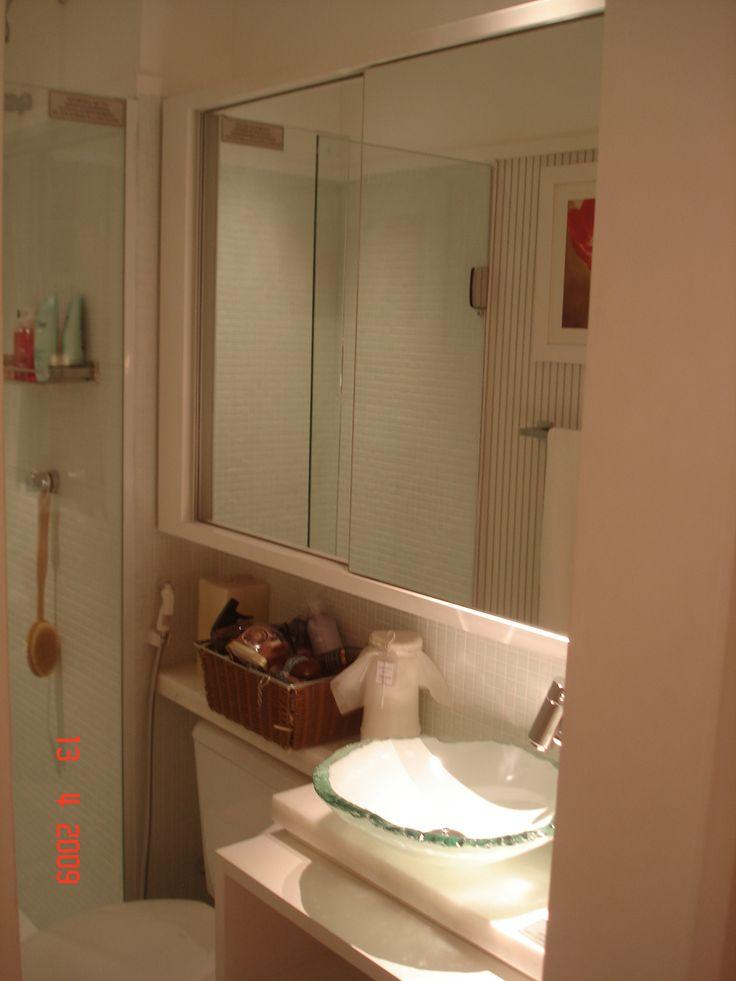 17 melhores imagens sobre BANHEIRO no Pinterest  Mosaicos, Caixas e Reforma  -> Armario No Banheiro