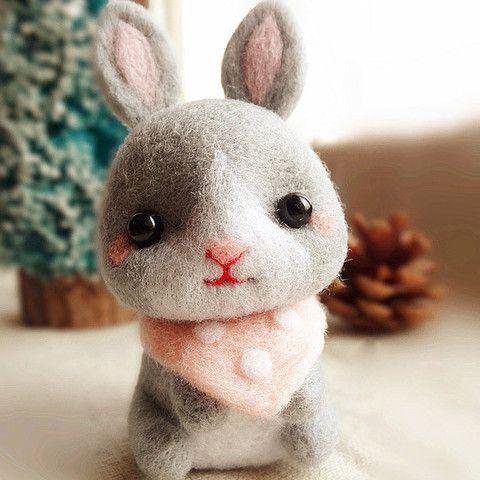 Needle Felted Felting Animals Bunny Rabbit Cute Craft