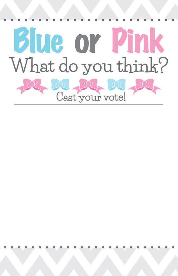 Gender Reveal Party - Blue or Pink What do you think? Cast your vote sign!
