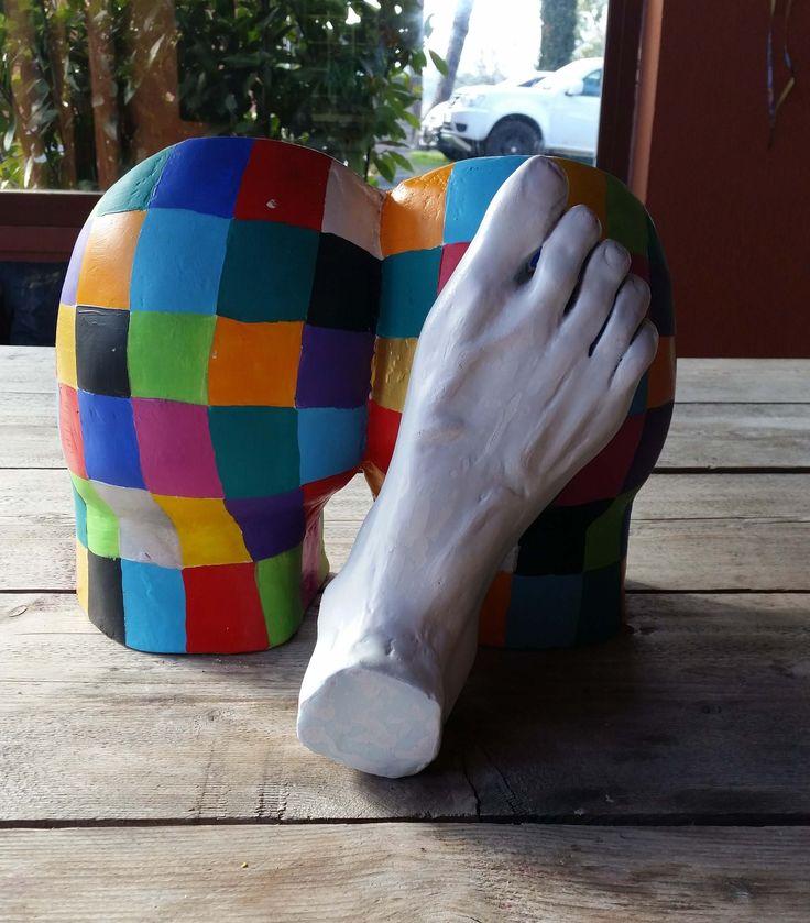 """""""Istinto Primordiale"""" Clay sculpture L34xH30xP28"""