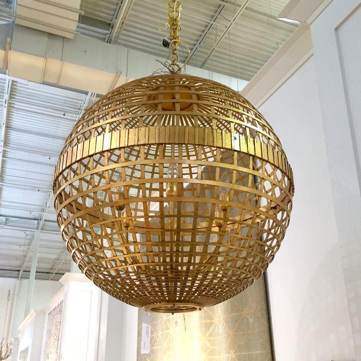 Aerin Lauder pendant light  #lighting #chandelier #pendant #gold