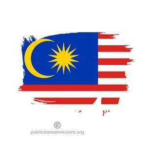Vector flag of Malaysia made with paint stroke.