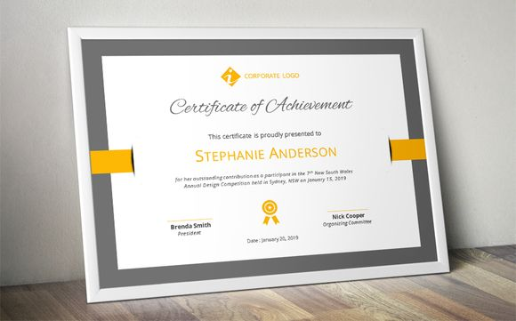 Elegant Certificate Template (docx) By Inkpower On @creativemarket  Certificate Template Ms Word