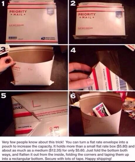 A clever way to make a postal pouch.