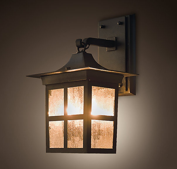 Restoration Hardwareu0027s Benner Sconce:Our Benner Square Lantern Is Framed  With Panes Of Clear, Textured Glass.