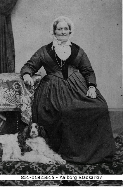 Jacobine Hollenius,1856, (photo Aalborg City Archives) - ´from one of the oldest photo albums in Denmark. Jacobine was in her young days known for her beauty, poems have been written about her.