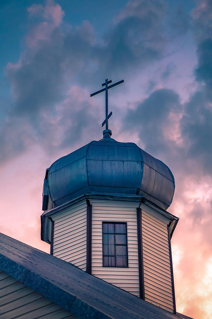 Church at sunset - Clickasnap