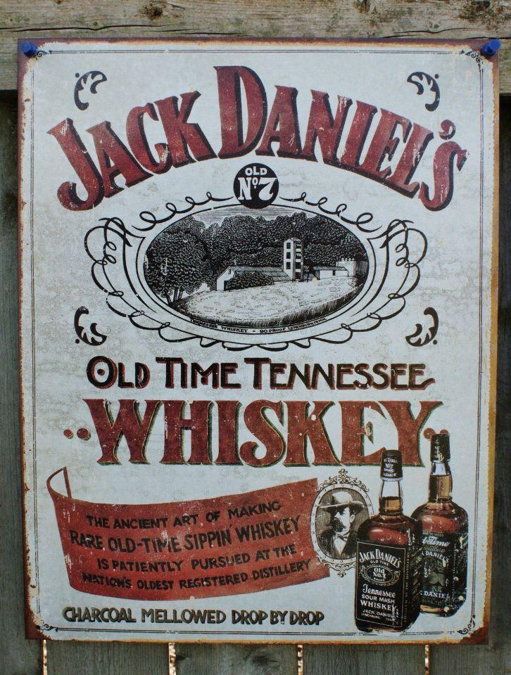 Man Cave Tin Signs : Pin jack daniels distiller bottle retro weathered tin