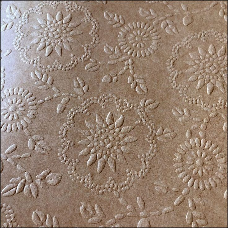 Papel Mais Artes - Scrapbook & Personalizados - Papel Kraft Textura - FLORAL 2 300g