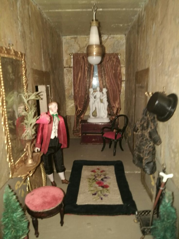 View og the hall in old danish dollhouse, from our Collection