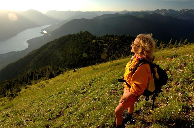 Enjoying the views of the Slocan Valley from Idaho Peak in southeastern BC.  — in New Denver, British Columbia.