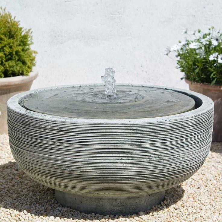 Campania International Girona Bird Bath Fountain   Garden Fountains At Only  Outdoor Fountains