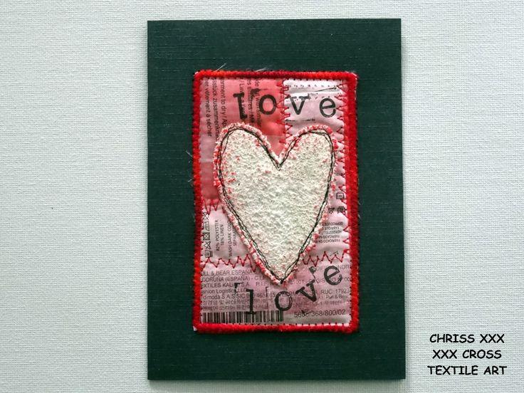 Kunstkaart / Mail Art van Kunst per post Afmeting kaart: 10,5x15cm (bxh) Afmeting kunstwerk: 6,5x10,5cm (bxh) Kleur: zwart - rood - wit