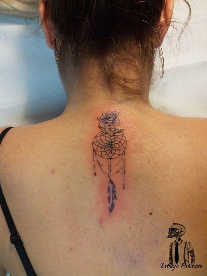 #Dreamcatcher #tattoo #flowers