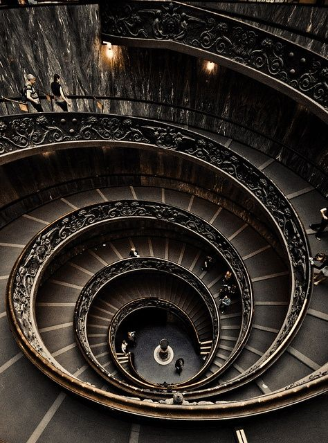 Spiral Staircase At The Vatican Museumu2026