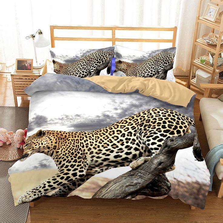 3D Animal Snow Leopard Printed 2 Bedding Sets/duvet cover set