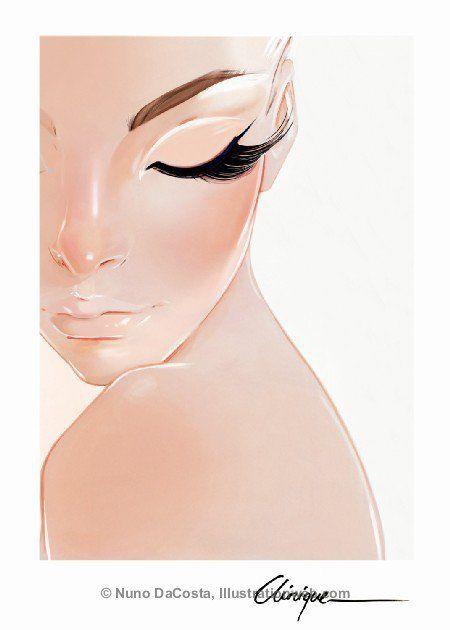 Girl illustration. Face / Illustrazione ragazza. Viso - Art by Nuno DaCosta