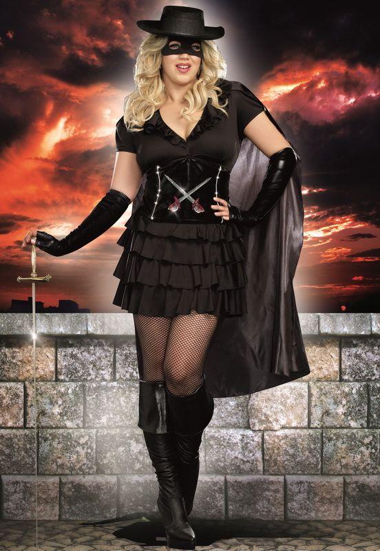 Plus Size Sexy Zorro Costumes, Plus Size Women's Zorro Costumes, Plus Size Women's Superhero Costumes, Plus Size Sexy Women's Halloween Costumes