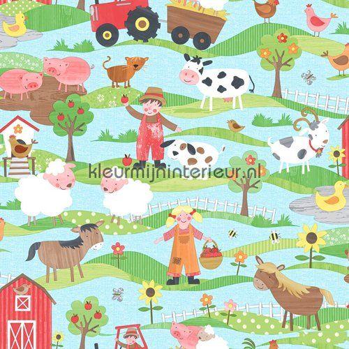 Leven op de boerderij behang G45130 uit de collectie Tiny Tots van Noordwand is verkrijgbaar bij kleurmijninterieur