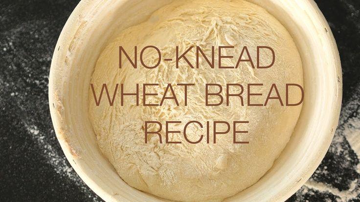 Super easy no-knead wheat bread recipe
